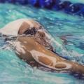 Susanne Wehmer, pintura hiperrealista, Nadador #5