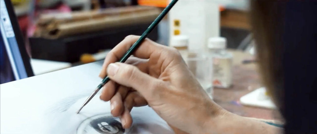 Susanne Wehmer pintura hiperrealista hyperrealistic painting hyperrealistische malerei hiperrealismo hyperrealism hyperrealismus oleo plexiglas taller atelier studio